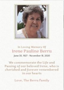 Irene Pauline  Berru