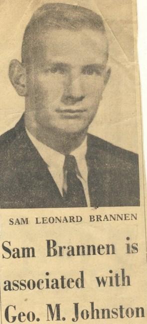Sam L  Brannen Obituary - ,
