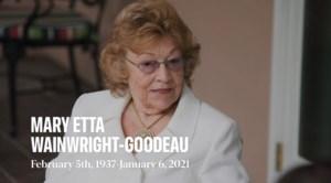 Mary Etta  Wainwright-Goodeau